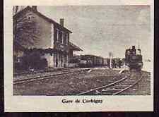 1962  --  VAPEUR EN GARE DE CORBIGNY  m930