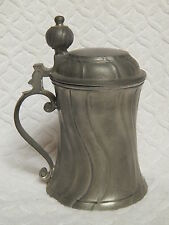 ANTIQUE AUSTRIA AUTHENTIC EDWARD SCHOLL ZINN SWIRL DESIGN BEER STEIN, TANKARD