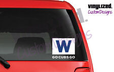 "Cubs Win ""W"" flag sticker. MLB Chicago Decal Baseball wrigley field GO CUBS GO!"