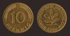 GERMANIA GERMANY 10 PFENNIG 1994 F