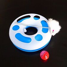 Popular Pet Cat Happy Circle Spring Toy Activity Training Funny Disk Toy Random