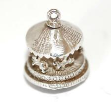 Vintage Sterling Silver Bracelet Charm Moving Carousel Merry Go Round (2.1g)