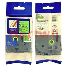 Brother TZ-D51 P-Touch Compatible Black on Fluo Green Label Tape 24mm TZe-D51