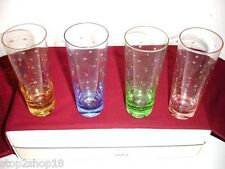Kate Spade New York Larabee Dot Pop Mojitos 4 Glasses Assorted Colors NEW