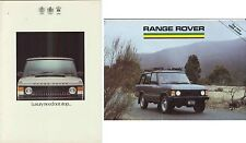 Two 1985 RANGE ROVER British & Aust Market Brochure & 2 Page 2 & 4 Door & VOGUE