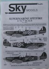 Skymodels 1/72 72063 Supermarine Spitfire decal set