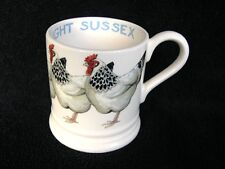 EMMA BRIDGEWATER LIGHT SUSSEX BRAHMA CHICKEN HEN MUG HALF PINT BIRDS TANKARD NEW