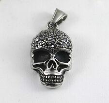 Acier inox Tête De Mort ,Bikers Pendentif pour collier ,métal,gothique,