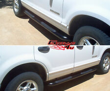 02-05 Ford Explorer 4Dr Black Side Step Nerf Bars