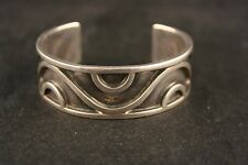 Mexican Modernist Lico Sterling Silver Cuff Bracelet
