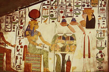 503031 Queen Offers Vases To Goddess Hathor Egypt A4 Photo Print