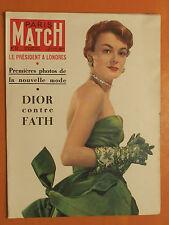 Paris Match 52 du 18/03/1950-Dior contre Fath premières photos de nouvelle mode