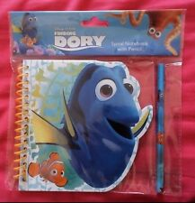 Disney Pixar Finding Dory + Nemo Spiral Notebook WIth Pencil - BNIP!