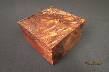 "HONDURAN ROSEWOOD BURL 4"" X 4"" X 2""  BOWL BLANK UNREAL COLOR FIGURE EYES!!!!"