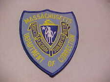 MASSACHUSETTS D.O.C.  POLICE PATCH SHOULDER SIZE UNUSED