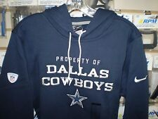 DALLAS COWBOYS NIKE STADIUM CLASSIC CLUB FLEECE NAVY PULLOVER HOODIE M MED