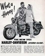 vintage Harley Davidson Ad 1951 Hydra Glide 8X10 photo picture poster RP