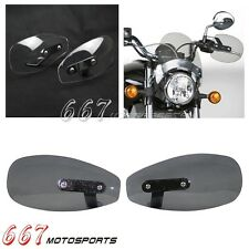 Motorcycle Hand Wind Deflector Mirror Mount Hand Guard Protector For 8mm/10mm