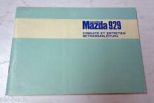 Betriebsanleitung Handbuch Conduite et Entretien Mazda 929, Stand 03/1975