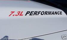 7.3L PERFORMANCE (pair) Hood vinyl sticker decals F250 F350 Power Stroke Decal