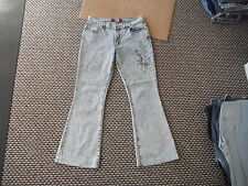 "Kalista's Bootcut Jeans Waist 31"" Leg 29"" Faded Bleached Blue Ladies Jeans"