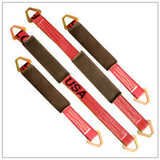 """Axle Strap Towing Straps Rugged Weave 2- 21"""" 2- 31"""" R"""