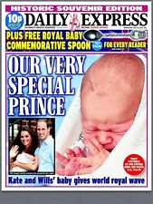 Prince William & Kate Middleton Royal Baby Prince George Daily Express Newspaper