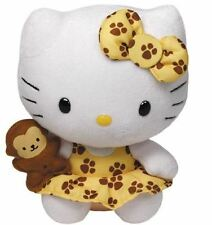 "HELLO KITTY - TY Beanie - 6"" Safari Plush Soft Toy"