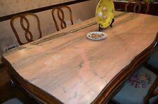 A Still ! Antique Pink Marble wood inlay dining table