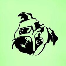Cute Pug Dog  Dogs Wall Art  Vinyl Sticker Wall Decal Laptop Home  Car