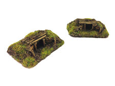 Painted wargaming terrain: pair of 15mm HMG Nests - ideal for Flames of War etc.