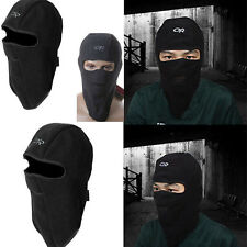 Motorcycle Thermal Fleece Balaclava Neck Men Winter Ski Full Face Mask Cap Cover