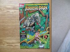 1993 TOPPS JURASSIC PARK # 1 MOVIE COMIC RAPTOR SIGNED WALT SIMONSON, WITH POA