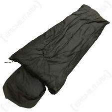 BLACK PILOT SLEEPING BAG - System Pack Military Camping Festival Cadet Outdoor