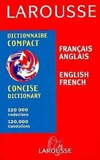 Larousse Concise Dictionary French-English/English-French-ExLibrary