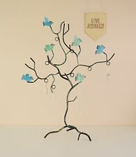Blue Birds Jewellery Tree for Necklaces & Bracelets - Stand - Display - Holder