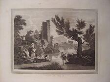 Italia. «View in Milan» Disegno Vernel. Incisione Walker (engraving, grabado)