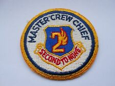 vintage  second to none  master crew chief  cloth usaf patch