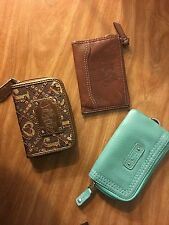 3 Coin Purse/ Card Holders COACH, FOSSIL, JUSTICE!!