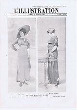 PUBLICITE ADVERTISING 054 1911 Une mode qu'on veut lancer pour la rue réception