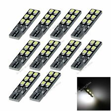 10X Car 12 LED 2835 Canbus Error Free  T10 W5W Wedge Side Light Bulb Lamp A097