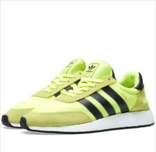 New Mens Adidas Iniki boost Trainers Shoes Solar Yellow UK 10 Ultra Rare
