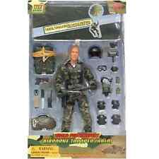 "World Peacekeepers 12"" poseable Army Action Figure Airborne Trooper & Parachute"