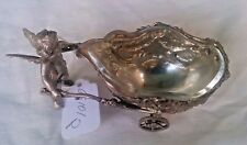 ANTIQUE GERMAN 800 SILVER ANGEL MASTER SALT J.D. SCHLEISSINER  & SOCHNE, HANAU.