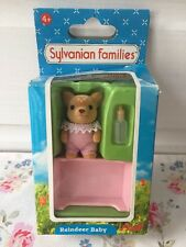 Discontinued RARE Sylvanian Families Figure Moss Reindeer Family Baby Xmas BOXED