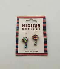 New Mexican Designs Palm Tree Earrings Jewelry Sterling Silver 925