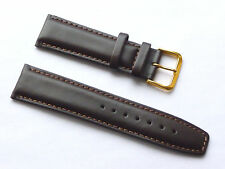 Replacement Quality Lug 22mm Brown Genuine Leather Strap DKNY