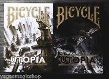 Utopia Gold & Black 2 Deck Set Bicycle Playing Cards Poker Size USPCC Custom New