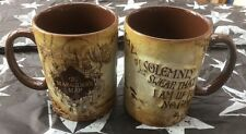 "New Harry Potter Tour genuine Marauders map mug-"" I solemnly swear....."" Cup"