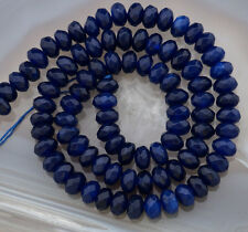 4x6mm Faceted Blue Sapphire Gemstone Loose Beads 15''